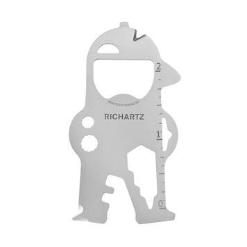 "RICHARTZ Key Tool ""Bob"", multifunctional tool with 17 functions as a key ring"