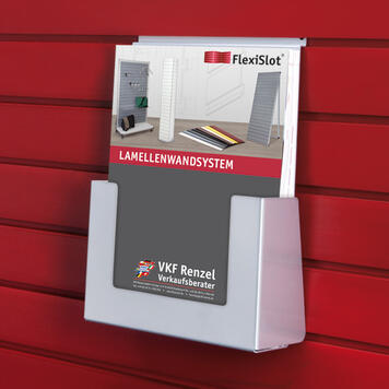 FlexiSlot® Leaflet Holder, portrait format, various sizes