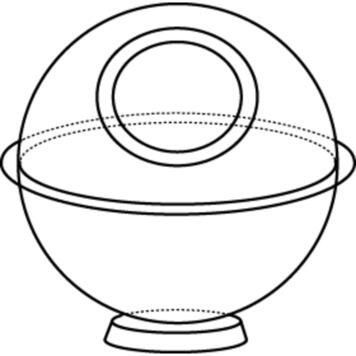 """Display Sphere """"Cornus"""""""