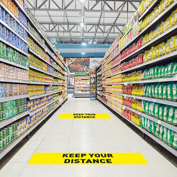 "Floor Sticker ""Keep Your Distance"""