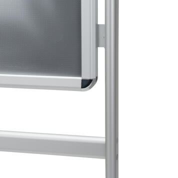 """Poster Stand """"Info"""", 32 mm profile, round Corners, silver anodised"""