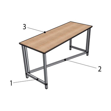 "Versatile Presentation Table ""Construct"""