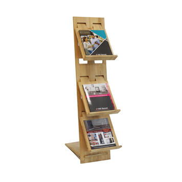 """Leaflet Stand """"H2"""" in wood"""