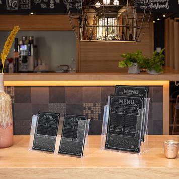 "2 Section Counter Top Leaflet Dispenser ""Universum"""